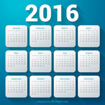 2016 calendar template