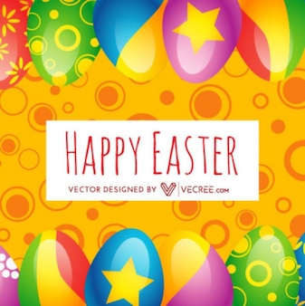 3d decorated eggs typographic abstract background