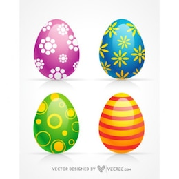 3d decoration happy easter eggs