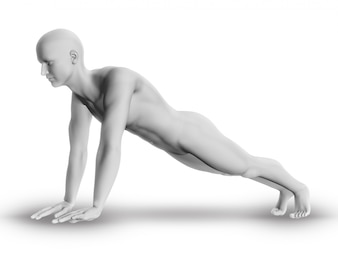 3d figure doing exercise