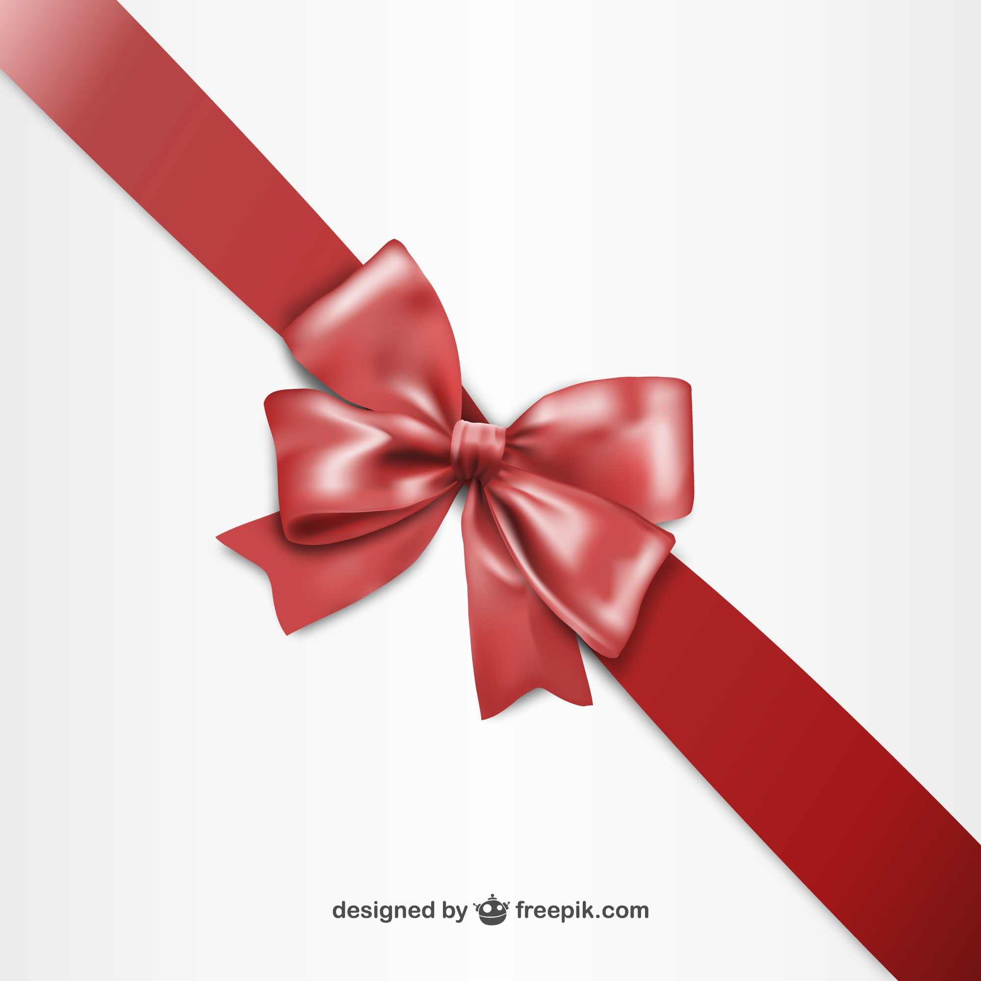 3D Red ribbon for Black Friday