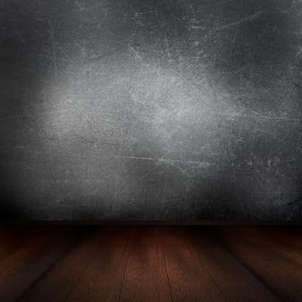 木製の床とそのインテリアの3Dレンダリング