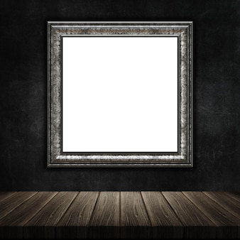 3d render of a grunge picture frame