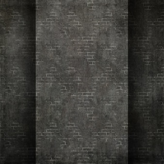 グランジスタイルのレンガの壁のテクスチャの背景の3Dレンダリング