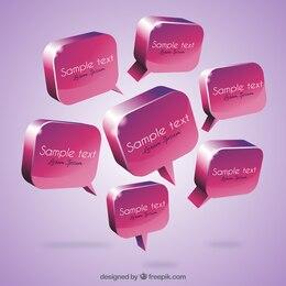 3D speech bubbles