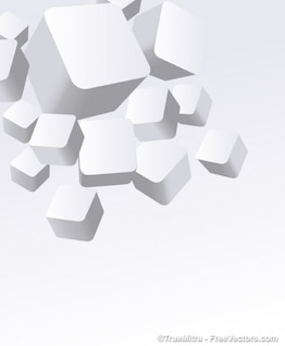 3D white boxes vector