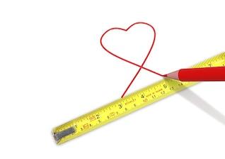 heart measure love rule tape meter folding