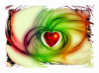 heart love relationship thank luck abstract
