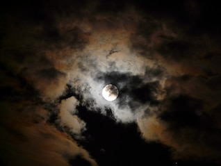 clouds darkness pale moonlight gloomy night moon