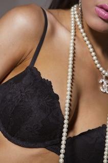 breast woman glamour bra necklase girl necklet
