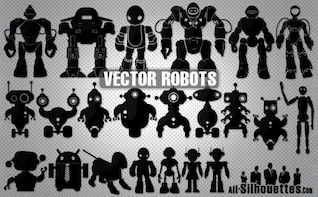 Vector Robots Silhouettes