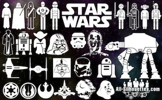 star wars symbols logo vector