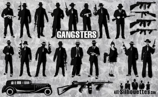 gangsters silhouettes