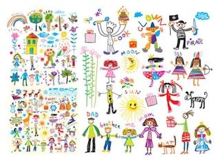 Vector Illustration of gay children