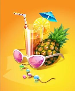 Zest Summer drinks vector material