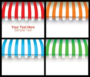 Advertising awning material blank vector