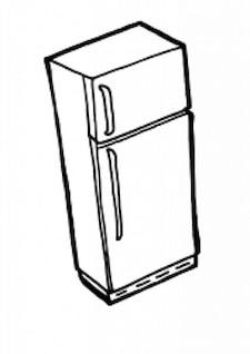 fridge outline