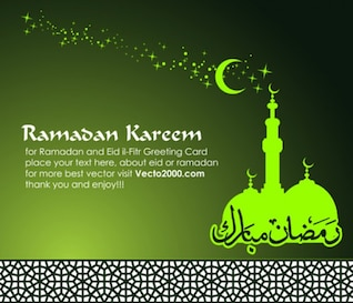 Islamic Greeting Card for Holy Month of Ramadan Kareem