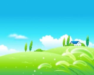 Perfect nature landscape vector