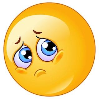 Stock Sad Emoticon Vector