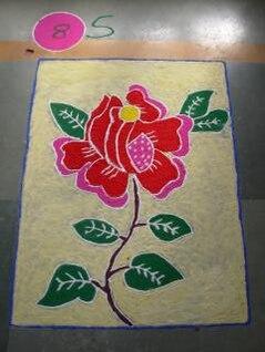 Indian rangoli diwali, art