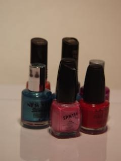 Nail polish, containers