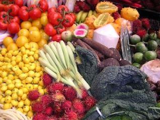 Fresh vegetables, tomatoes