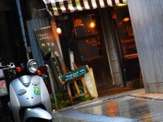 Scooter, pavement