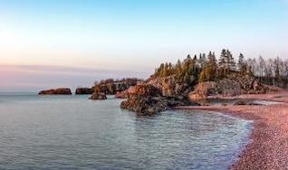 Morning Light, shore