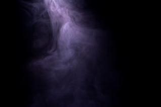 Smoke, translucent, isolated