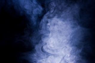 Smoke, light