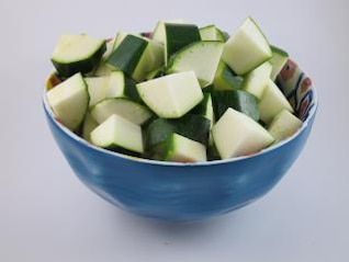 cubed zucchini