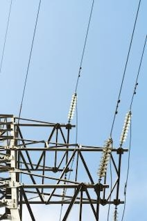 electrical power lines  electrified