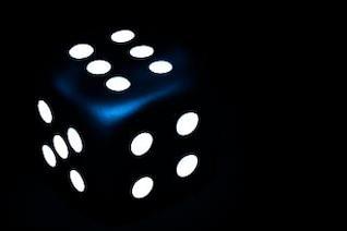 dark blue dice  four