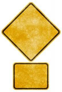 crossing road grunge sign   blank