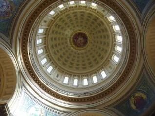 madison capitol upward view