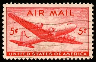 red dc skymaster stamp