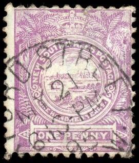 violet view of sydney stamp  highres