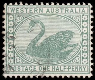 green swan stamp