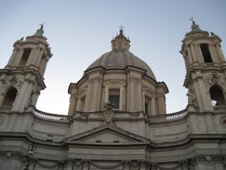 church domes in rome  italy