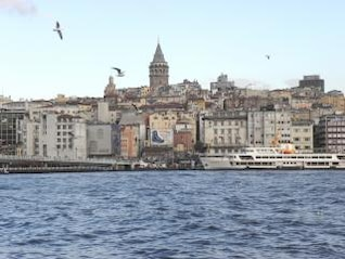 golden horn & galata tower in istanbul
