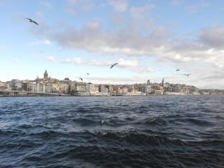 golden horn and galata tower in istanbul