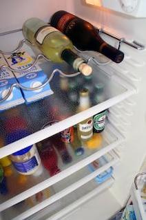 Food inside a fridge