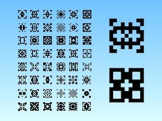 8-bit graphics digital art pattern background