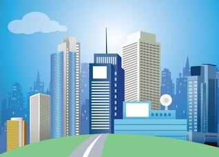 Modern City Vector Art