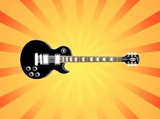 Electric guitar instrument vector illustration