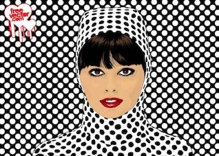 Pop Art Girl - Vector Art