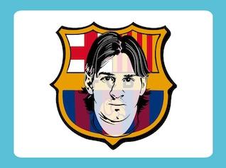 Lionel messi logo vector