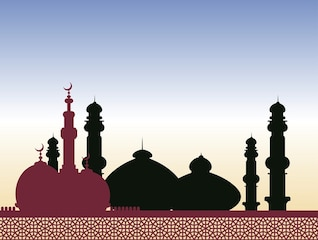 islamic religeion arabic architecture vector