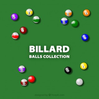 colorful Billiard game balls vector